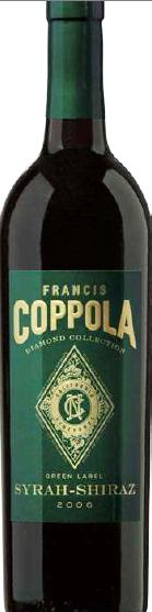 Francis Coppola Syrah-Shiraz Green Label Diamond Collection